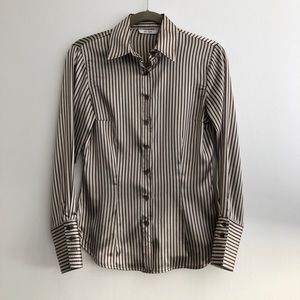 Zara Satin Button Down Shirt